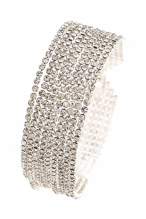 BCE{Just For Luck} Layered Rhinestone Bracelet