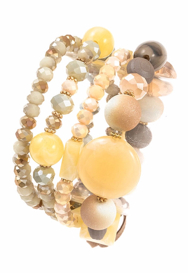 BCE-A {Take It Easy} Multi Tone Beaded Bracelet