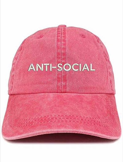 HAT {Anti-Social} Trendy Hat with Adjustable Strap