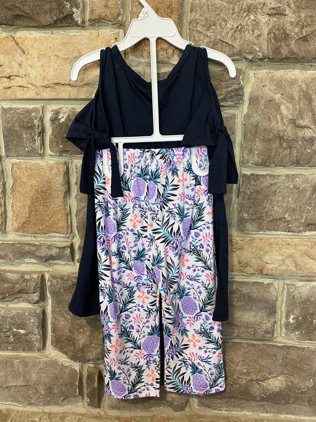 KIDS {Hello Beautiful} Navy Top W/Print Capris Set SALE!!