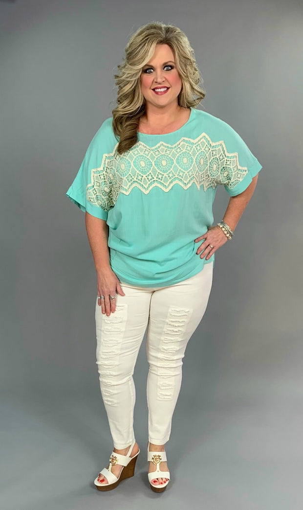 SD-H {Do It Right} Mint with Front Pockets & Crochet Detail