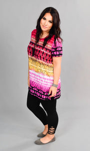 PSS-F {Me Again} Multi Color Top with Tie Detail SALE!!