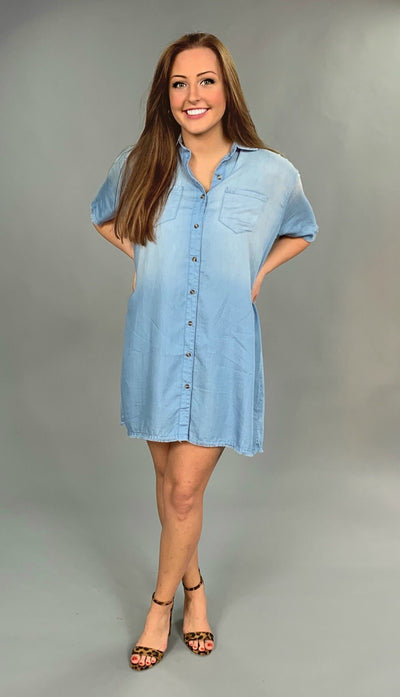"SSS-B {Pretty Young Thing} ""UMGEE"" Denim Blue Fringed Dress"