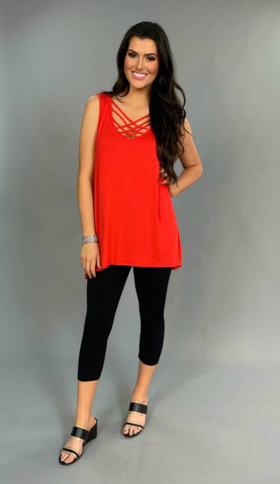 SV-W {Perfect In All Of Your Ways} Red Cage Tunic