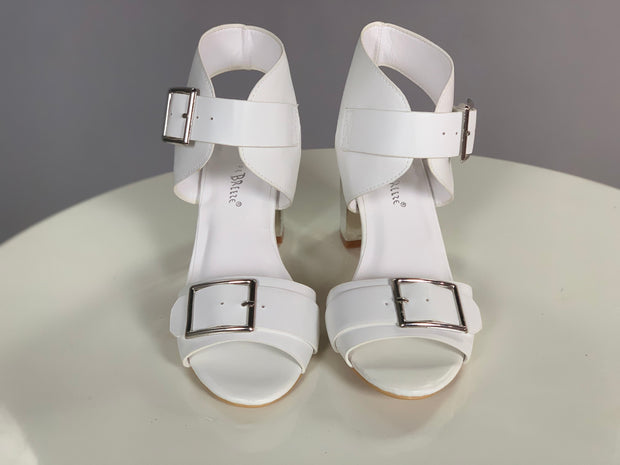 SHOES {Nature Breeze} Ivory Open Toe With Buckle