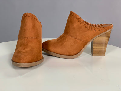 SHOES {WILD DIVA} Whiskey Color Suede