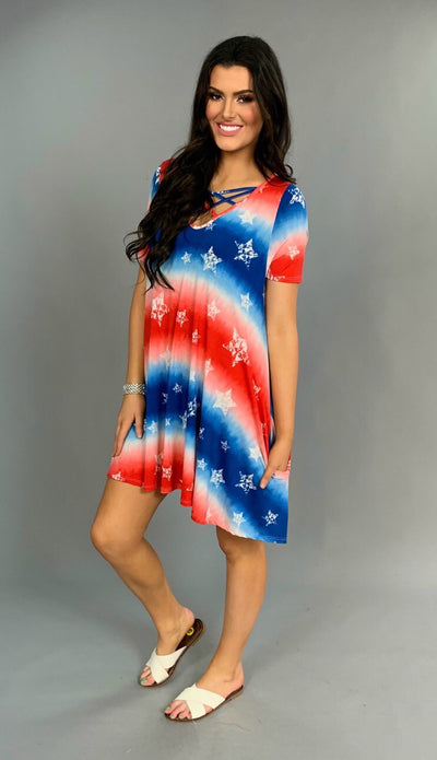 PSS-Y {Embrace Change} Patriotic Dress with Pockets