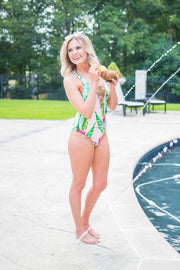 Swim {Tropical Oasis} Tropical Pattern One Piece