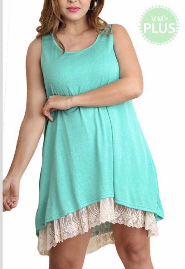 "SV-A {Always Classy} ""UMGEE"" Emerald Dress with Lace Slip SALE!!"