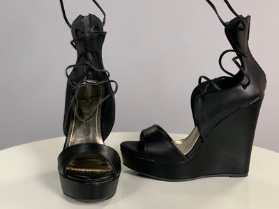 SHOES {Liliana} Black With Tie Ankle Detail