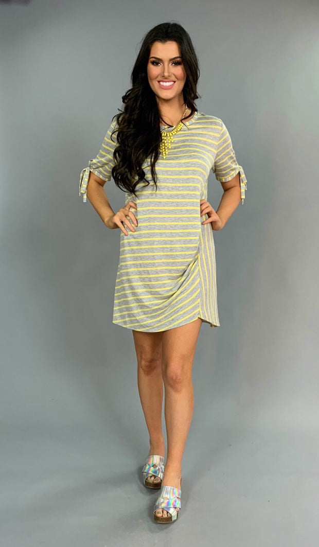 PSS-V {The Right Path} Yellow/Gray Striped Dress Tie Sleeves SALE!!