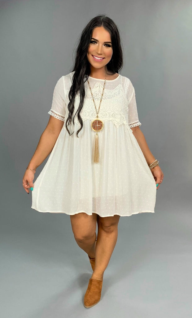 "SSS-A {Fancy That} ""UMGEE"" White Tunic with Crochet Detail SALE!!"