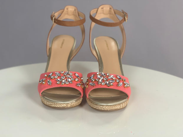 SHOES {Liz Claiborne} Coral With Rhinestones