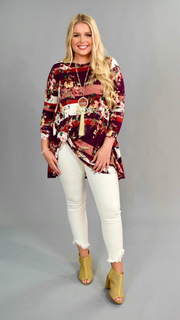 PLS-A {Something New Everyday} Loose-Fit Floral Tunic