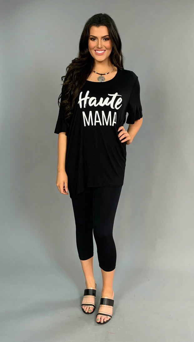 GT-G {HAUTE MAMA} Black/White Stretchy & Soft Tunic