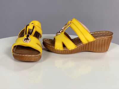 SHOES {Styluxe} Yellow with Wedge