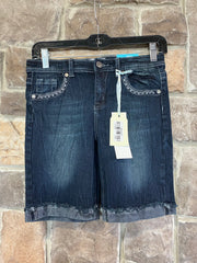 KIDS {Denim & Blues} Navy Stretch Denim Bermuda Shorts