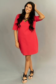 SD-Z Red Bodycon with Black Lace V-Neck Back Detail SALE!!