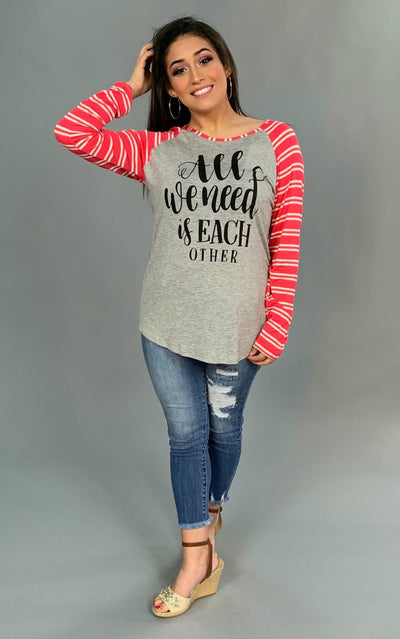 "GT-T ""All We Need Is Each Other"" Raglan Tee"