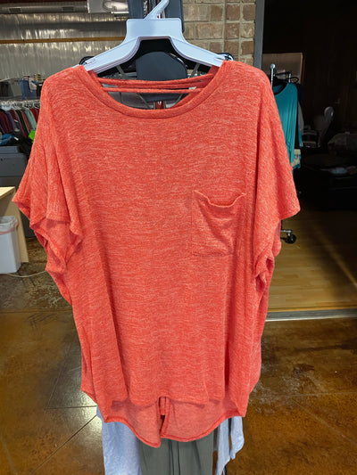 SSS-K {Coral Fun} Coral Sweater Top W/Pocket S