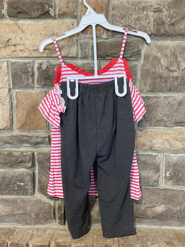 KIDS {Ocean Dreams} Coral Graphic Tee Charcoal Capri Set SALE!!