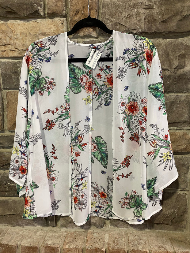 OT-A {Spring Forward} Sheer Floral Bolero Jacket
