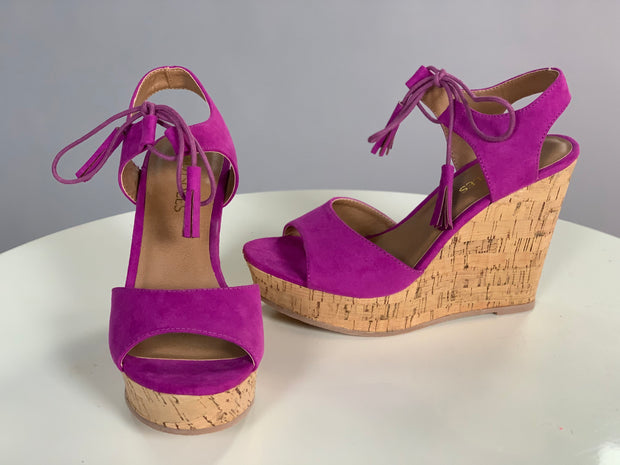SHOES {HotSoles} Magenta  with Tassel Laces