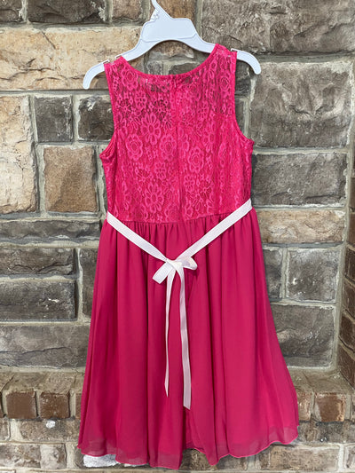 KIDS {Tea Party} Pink Lace Detail Sleeveless Dress W/Bow