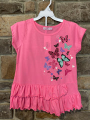 KIDS {Butterfly Garden} Pink Graphic Tee Black Print Shorts Set SALE!!