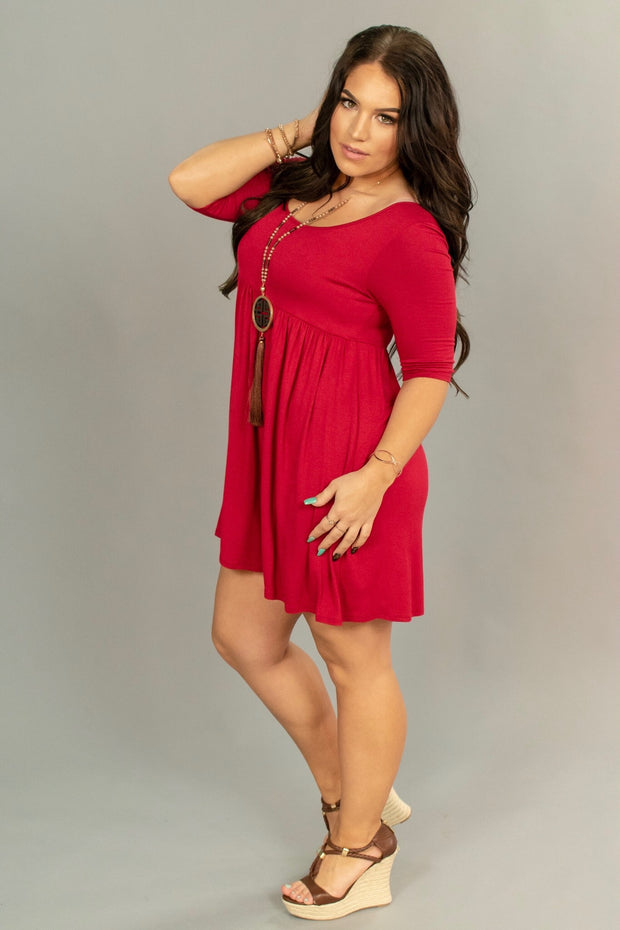 SSS-N {Too Much Fun} RED Babydoll Tunic or Dress
