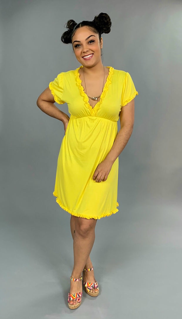 SSS-J {Endless Romance} Yellow Dress w/ Ruffle Detail