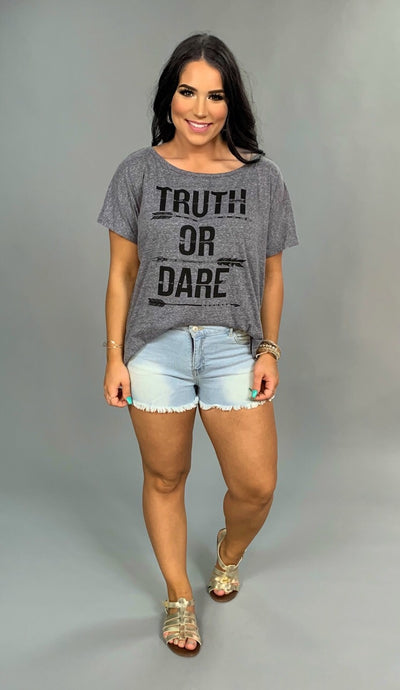 "GT-H Gray ""Truth Or Dare"" Graphic Tee"