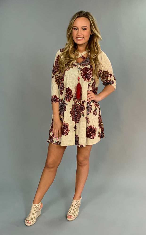 PQ-A {Leaving Tonight} Floral Mandala Print Dress