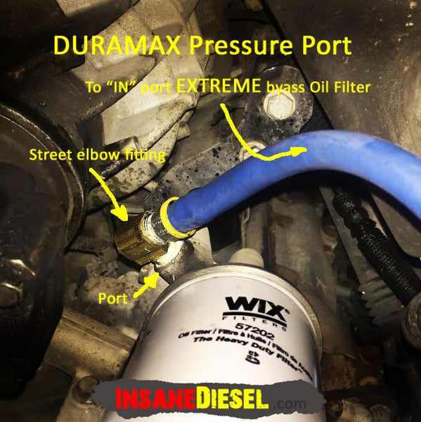 Duramax 6.6 Bypass oil Filter Installation