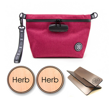 Maroon Travel Kit - Rose Gold