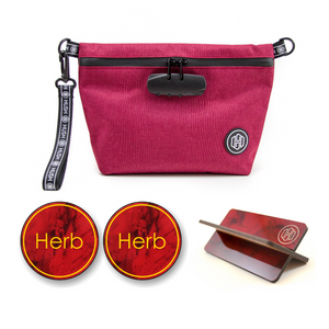 Maroon Travel Kit - Red Marble