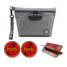 Grey Travel Kit - Red Marble