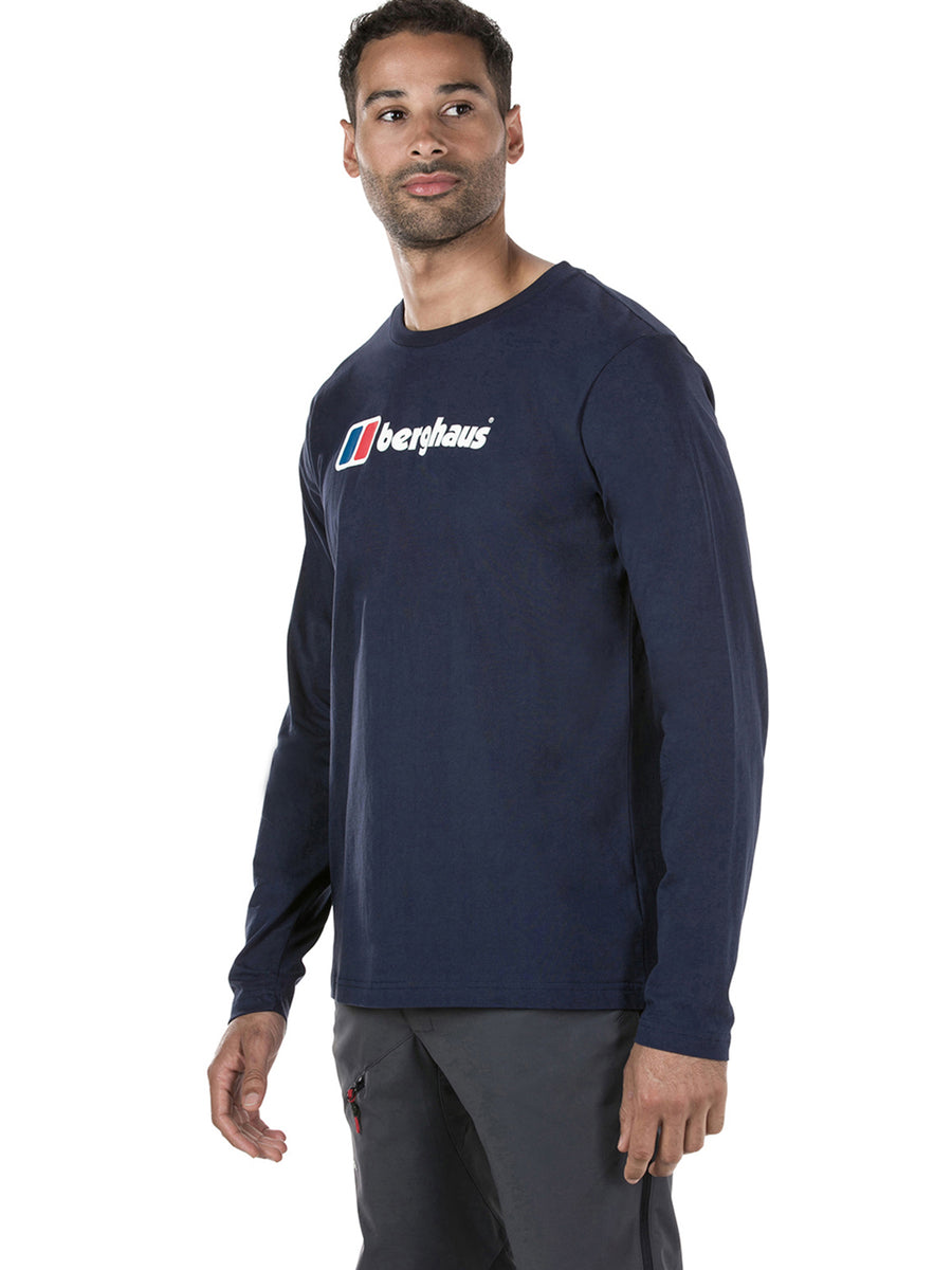MEN'S BIG CORPORATE LOGO LONG SLEEVE TEE