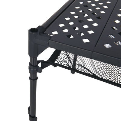 韓國製戶外鋁製摺枱 Cube Backpackers' Table Black
