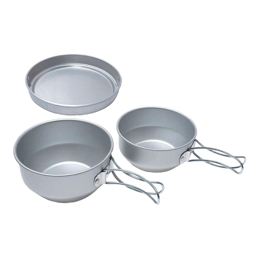 3 Mess Kit-Aluminum Cookset 鋁鍋具三件套裝