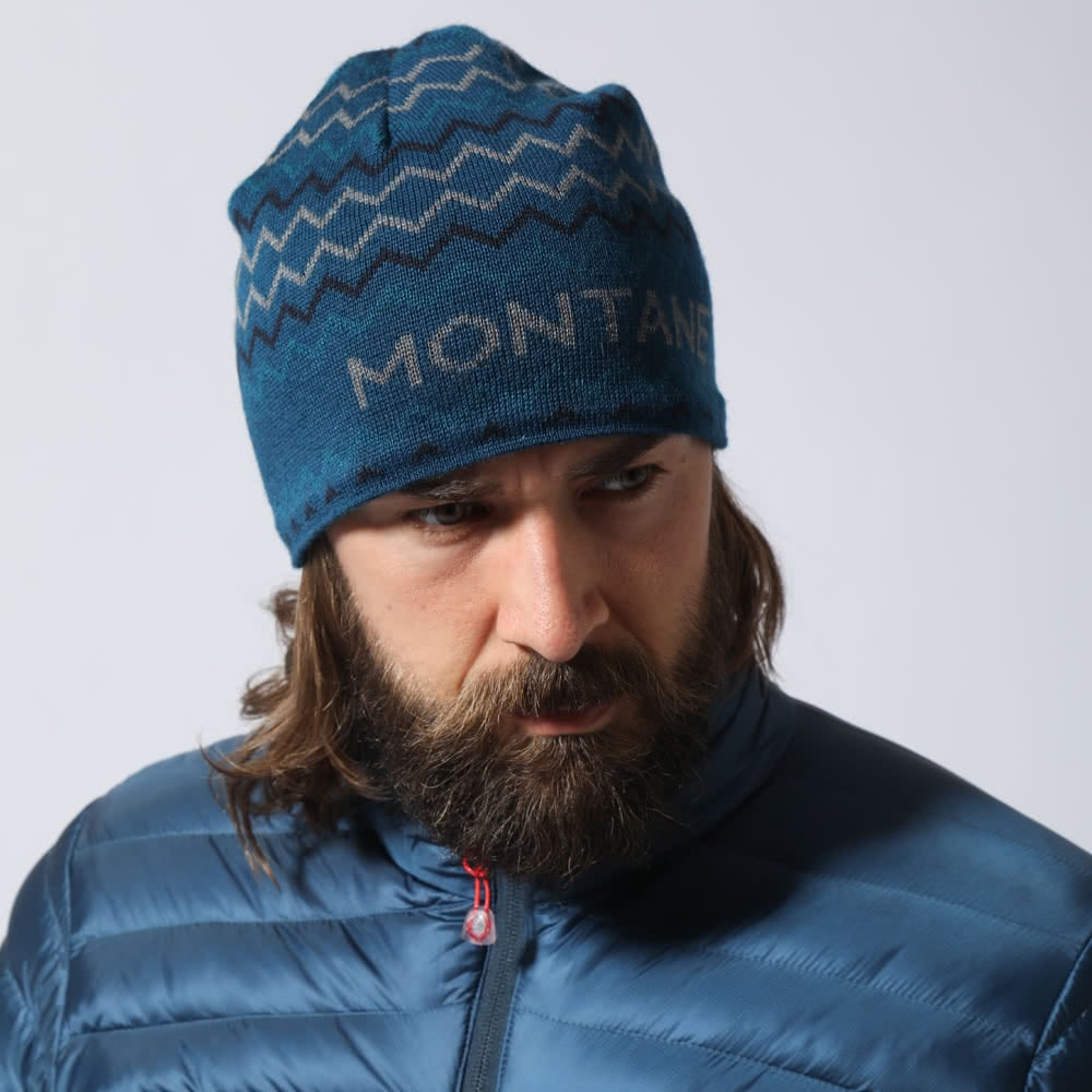 Antarctic Blue Montane Signature Beanie Stripe