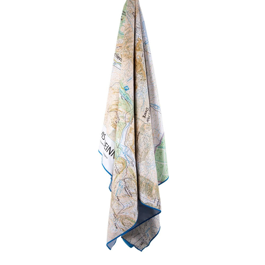 吸水快乾地圖毛巾 SoftFibre Ordnance Survey Travel Towel