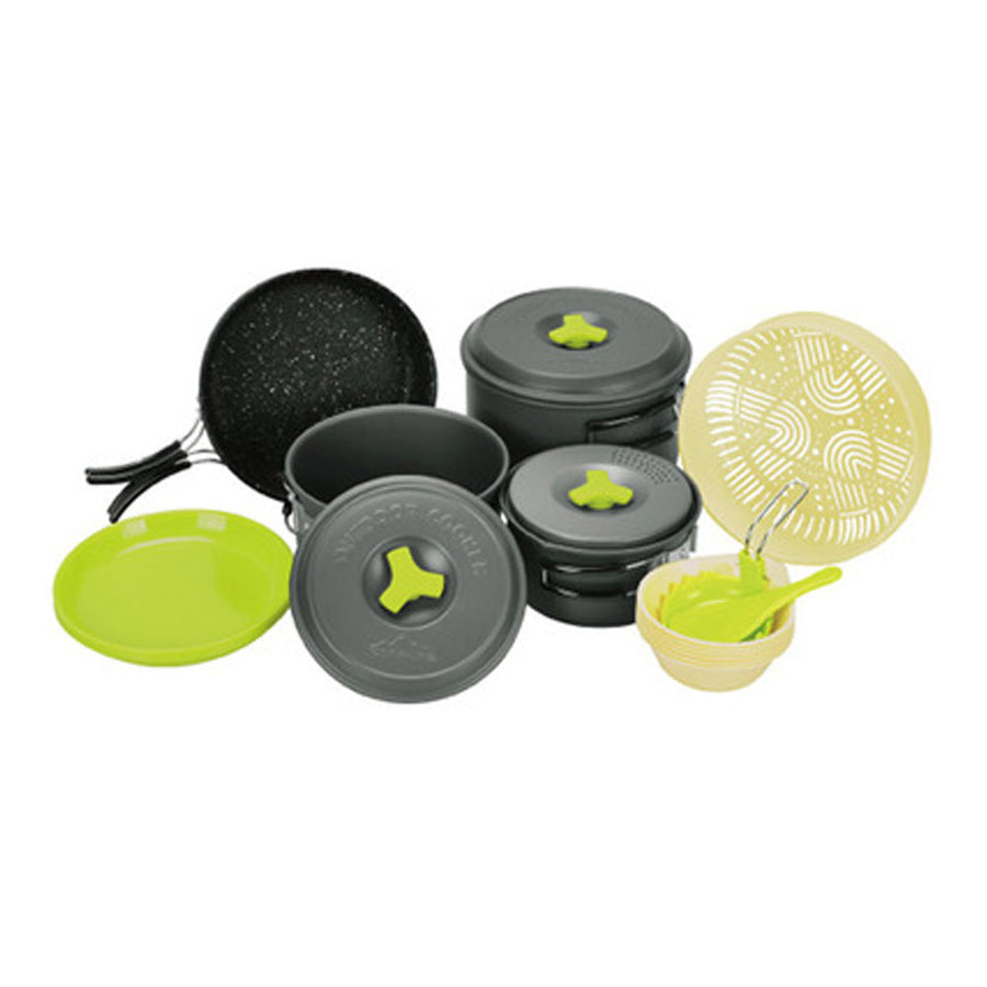 Outdoor Hard Andoizing Cookset 5-6 Assort
