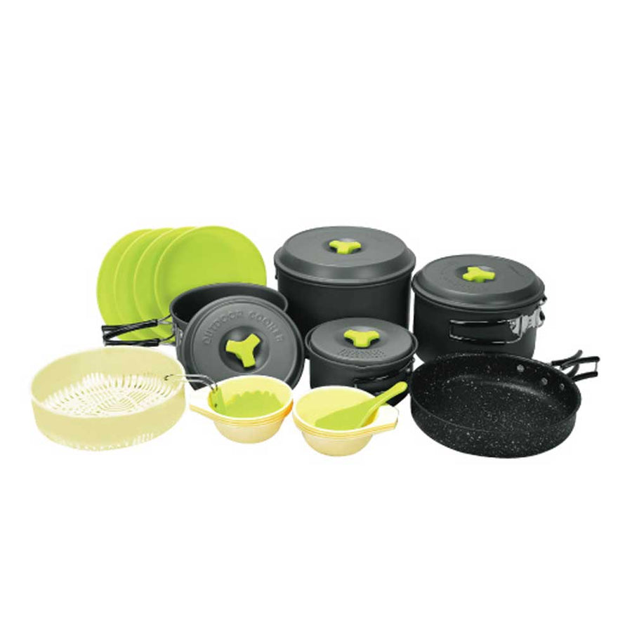 Outdoor Hard Andoizing Cookset 7-8 Assort