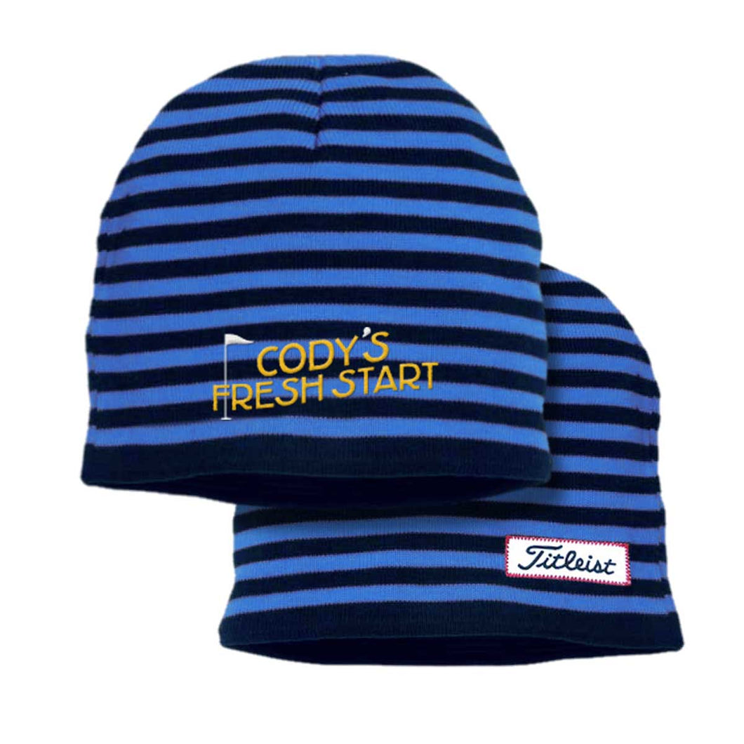 HAT - Titleist Striped Beanie
