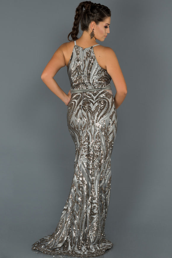 Scarlet Grey sequined evening dress