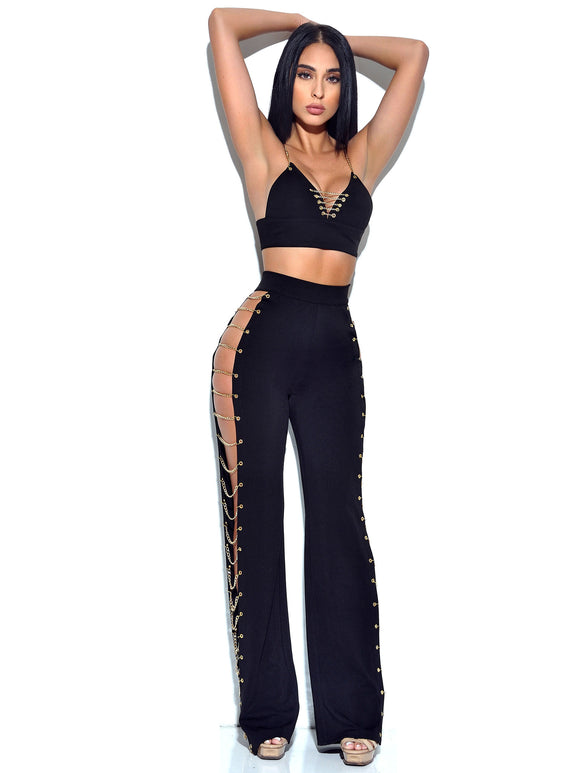Shelly Two Piece  black set