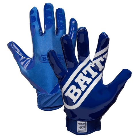 Battle DoubleThreat Navy Blue Youth Football Receiver Gloves