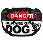 "Battle ""Beware of Dog"" Chrome Football Back Plate - Youth"