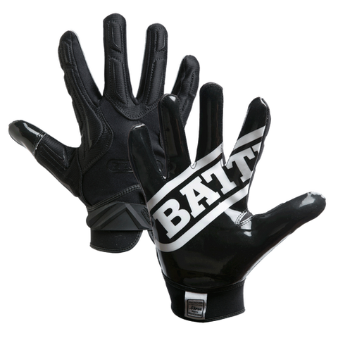 Battle Hybrid Black Youth Football Gloves